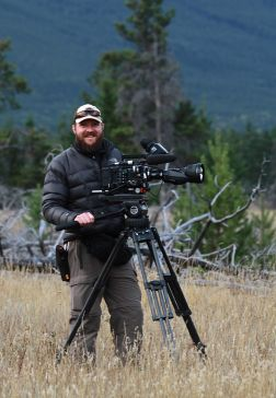 Manske filming with Sony F55 in Jasper National Park, Sept. 2013