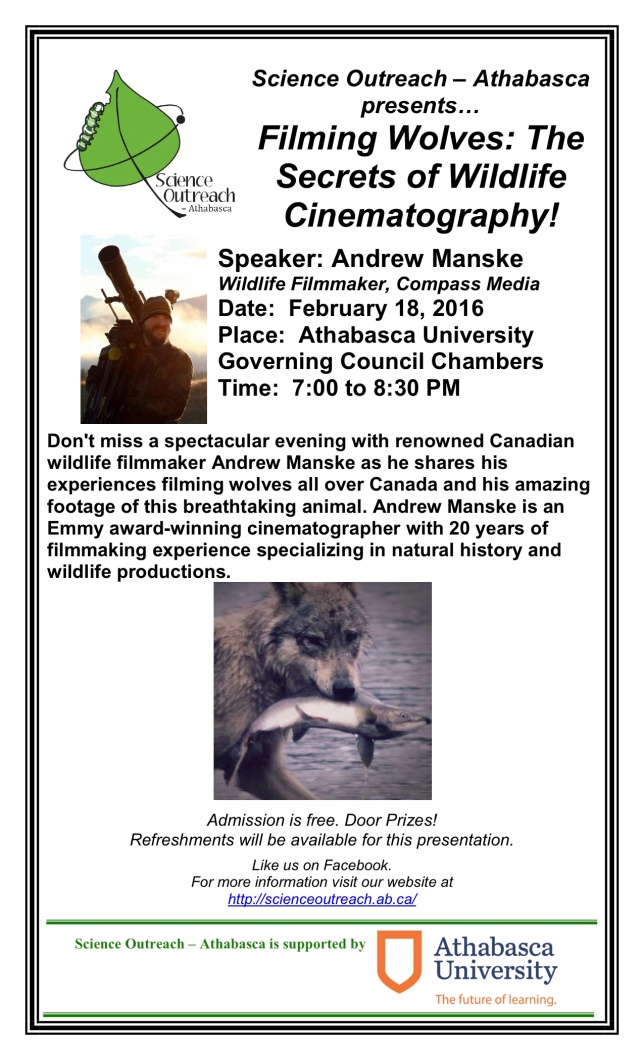 Athabasca Wolf Talk Poster